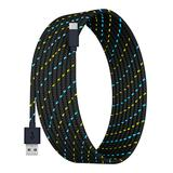 Tech Zebra USB Cables Black - Black 10-Foot Charging Cable For USB-C