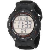 Armitron Sport Men's 408159BLK Chronograph Black Strap Digital Display Watch