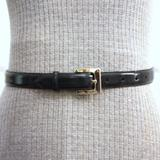 Coach Accessories | Coach Navy Leather Belt With Chrome Buckle | Color: Blue/Silver | Size: 25-29
