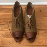 Madewell Shoes   First Release- Like New Madewell Oxford Wedge   Color: Brown/Green   Size: 8.5