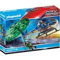 Playmobil Konstruktions-Spielset Polizei-Hubschrauber: Fallschirm-Verfolgung (70569), City Action, Made in Germany bunt Kinder Bausteine Bausätze Bauen Konstruieren