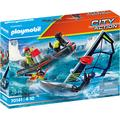 Playmobil Konstruktions-Spielset Seenot: Polarsegler-Rettung mit Schlauchboot (70141), City Action, Made in Germany bunt Kinder Bausteine Bausätze Bauen Konstruieren