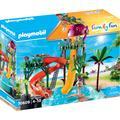 Playmobil Konstruktions-Spielset Aqua Park mit Rutschen (70609), Family Fun, Made in Germany; funktionsfähiger Free-Fall-Rutsche bunt Kinder Bausteine Bausätze Bauen Konstruieren