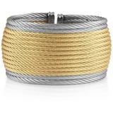 18k Yellow Gold & Stainless Steel Cuff - Metallic - Alor Bracelets