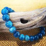 "Semi-Precious Gemstone Apatite 8 mm Round Beads Smooth Beads with Stretch Bracelet 7"" Bracelet for Women Men Girls Gifts (Unisex)"