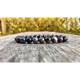"Semi-Precious Gemstone African Sugilite 8 mm Round Beads Smooth Beads Stretch Bracelet 7"" Bracelet for Women Men Girls Gifts (Unisex)"