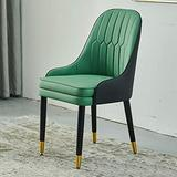 HLY Commercial Chairs,Modern Accent Kitchen Dining Room Chair, Leather Cushion Dining Chair, Makeup Stool Dressing Sofa Seat, for Living Room, Restaurant (Color : Yellow, Size : 1Pcs),Green,1pcs