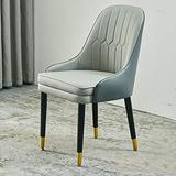 HLY Commercial Chairs,Modern Accent Kitchen Dining Room Chair, Leather Cushion Dining Chair, Makeup Stool Dressing Sofa Seat, for Living Room, Restaurant (Color : Yellow, Size : 1Pcs),Gray,1pcs