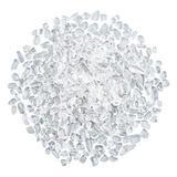 AHANDMAKER Natural Quartz Crystal Beads, 2/3 Pound Polished Tumbled Gemstone Chips No Hole Undrilled Chip Beads Undrilled Crystals for Decoration, 3-13.5 x 2-7.5 x 1.5-3.5mm