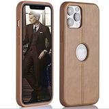Super Slim Leather Case iPhone 12 Pro Max 6.7 '' - iPhone 12 Pro Max Phone Case Luxury and Premium Leather –Apple iPhone Cases 2020 for Men and Women (Brown)