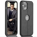 Super Slim Leather Case iPhone 12 Pro Max 6.7 '' - iPhone 12 Pro Max Phone Case Luxury and Premium Leather –Apple iPhone Cases 2020 for Men and Women (Black)