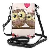 Crossbody Cell Phone Purse Cute Owls Small Crossbody Bags Women Pu Shoulder Bag Handbag