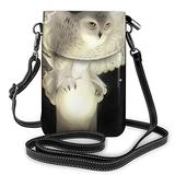 Crossbody Cell Phone Purse White Owl Small Crossbody Bags Women Pu Shoulder Bag Handbag