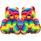 Giom Teddy Bear Slippers for Women , Women's Animal Slippers , Anti-Slip Washable Cute Plush House Slippers, Cozy Soft Women's Home Slippers Indoor Shoes, Cartoon Fluffy Indoor Outdoor Slippers for Kids and Girls, Gifts (Multicolor)
