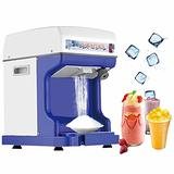 Electric Ice Shaver Machine Snow Cone Maker Fully Automatic Stainless Steel Blades Ice Crusher Catering Machine for Ice Cream, Cold Drinks and Cocktail, 250W Commercial Ice Shaving Machine