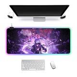 RGB Gaming Mouse Pad Large Non Slip LED Luminous Mouse mat Notebook Computer Game PC Table mat Animation Naruto 900x400x3mm