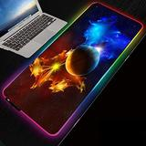 Mouse Pads Fantasy Galaxy Space RGB Gaming Mouse Pad LED Extended Large for Laptop Computer Keyboard, 700X300X4 Mm