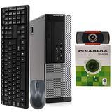 Dell OptiPlex 9020 SFF Computer Desktop PC, Intel Core i5 Processor, 8GB Ram, 256GB M.2 Solid State, Wireless Keyboard & Mouse, Wi-Fi & Bluetooth, 1080p Webcam, 16 GB Flash Drive Win 10 Pro (Renewed)