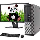 "Dell OptiPlex 9020 SFF Computer Desktop PC, Intel i5 Processor, 32GB Ram, 256GB M.2 SSD + 2 TB HDD, FHD 24"" Monitor, Wireless Keyboard and Mouse, WiFi & Bluetooth, Windows 10 Pro (Renewed)"