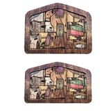 2 PCS Nativity Puzzle with Wood Burned Design - Christmas Nativity Puzzle, Nativity Set, Religious Jigsaw Puzzle Game for Adults and Kids Family Interactive Games (2 PCS)