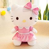 Hello Kitty Plush Toy Super Cute Cat Stuffed Toy Kitty Dolls Anime Plush Toys Kid Baby Birthday Gifts 24in/60cm Pink