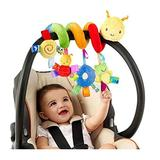 JAOCDOEN Car Seat Toys, Infant Baby Worm Crib Bed Around Rattle Bell Cartoon Insect Stroller Hanging Stuffed Wrap Spiral Safety Toys, Carseat Toys for Infants Baby Boy Girls