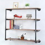Floating Shelves for Wall Industrial Pipe Shelving,Metal Floating Shelf Wall Mounted Bookshelf Unit,Rustic Pipe Shelves with Wood Iron Pipe Shelf,Bar Wall Shelves Hanging Book Shelves(4 Tier,42in)