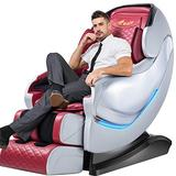 Massage Chair, SL-Track Shiatsu Massage Chair, Zero Gravity Massage Chair, Space Saving Technology, 3D Detect Massage Chairs Full Body and Recliner with Heat Foot Rolling,A