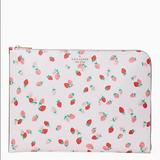 Kate Spade Bags | Kate Spade Staci Strawberry Laptop Sleeve | Color: Pink/White | Size: Os