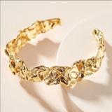 Anthropologie Jewelry | Amber Sceats Emery Cuff Bracelet 24k Gold Plated | Color: Gold | Size: Os