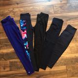 Athleta Other | Athleta Tights Bundle | Color: Black/Purple | Size: Xs