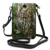Crossbody Cell Phone Purse Forest Owl Small Crossbody Bags Women Pu Shoulder Bag Handbag