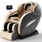 Massage Chair ,3D SL-Track Thai Yoga Stretching Zero Gravity Massage Chair,Full Body Shiatsu Massage Chairs Recliner with Tapping, Heating and Foot Roller Massage Chair Recliner with Zero Gravity Blue
