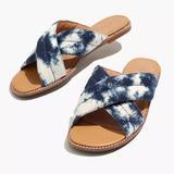 Madewell Shoes | Madewell The Skyler Tie Dye Slide Sandal | Color: Blue/White | Size: 7