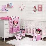 Disney Other | Disney Minnie Mouse 3-Piece Crib Bedding Set | Color: Pink | Size: (L X W X H) 5.00 X 12.00 X 12.00 Inches
