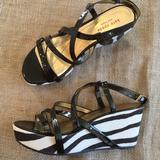Kate Spade Shoes   Kate Spade Bijou Patent Leather Wedge Sandals   Color: Brown/White   Size: 10