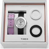 Variety Leather Strap Watch Box Set - Metallic - Timex Watches
