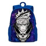 Naruto Backpack,Lightweight Multipurpose Daypack Oxford Cloth Large Anime Travel Bags Computer Bag for Woman's Men Blue
