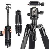 SIRUI Carbon Fiber Traveler 5CX Tripod 51.97 inches Lightweight Travel Outdoor Tripod with 360° Panorama Ball Head and Arca Swiss Quick Release Plate Load Capacity Up to 5kgs