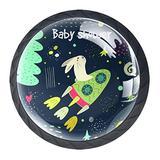 Drawer Handles Pull Drawer Decorative Cabinet Knobs Dresser Drawer Handle 4 Pieces,Kids Baby Shower Spaceship Universe