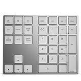 34-Key Numeric keypad, Bluetooth Wireless Numeric keypad, Rechargeable Keyboard for Mac OS Windows, iOS, Android