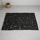 Star Constellations Rug Space Rug Kids Rug Constellation Floor Rug Black Rugs 3x5 4x6 8x10 9x12 Large Childrens Rugs Space Decor Stars Rug (Standard Area Rug, 5' Round)