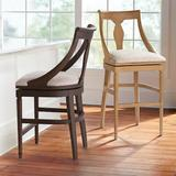 """Bexley Swivel Bar & Counter Stool - Performance Belgian Linen/Sandstone Counter Stool, 26"""" Counter Height - Frontgate"""