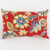 "20"" x 13"" Lumbar Pillow by BrylaneHome in Daelyn Cherry"