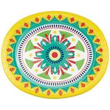 Creative Converting Colorful Pottery Oval Paper Plates 24 Count Heavy Duty Paper | Wayfair DTC349690OVAL