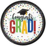 Creative Converting Colorful Graduation Paper Plates 24 Count Heavy Duty Paper | Wayfair DTC349669DPLT