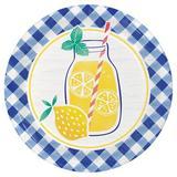 Creative Converting Gingham Lemonade Paper Plates 24 Count Heavy Duty Paper | Wayfair DTC349593DPLT