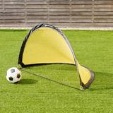 unitil Ord 2.5' Portable Pop-up Soccer Goals Net Metal/Fabric in Black/Yellow, Size 18.0 H x 30.0 W x 18.0 D in | Wayfair 59162834