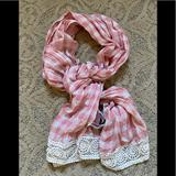 Zara Accessories | Bnwt Zara Girl Checkered Scarf Medium | Color: Red/White | Size: M