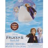 Disney Swim | Frozen 2 Anna Elsa Olaf Inflatable Beach Ball 13.5 | Color: Blue/Purple/White | Size: Os